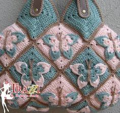 butterfly granny square blanket.