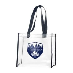 Our clear stadium tote is made of heavy PVC (polychloride vinyl) material with…