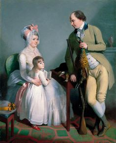 Mr and Mrs John Custance of Norwich and Their Daughter Frances, by William Beechey, c.1786. Norfolk Museums Archaeology Service (Norwich Castle Museum Art Gallery)