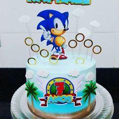 Bolo do sonic redondo Sonic Birthday Parties, Sonic Party, Dj Party, 10th Birthday, Birthday Cake, Bolo Sonic, Sonic Cake, Luxury Cake, Cakes For Boys