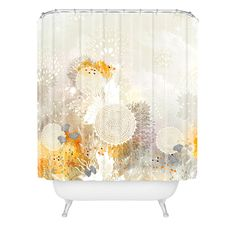 Iveta Abolina White Velvet Shower Curtain | DENY Designs Home Accessories