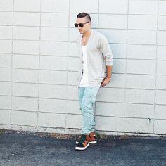 Street Style: SPERO Black Tan Green Sport