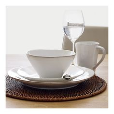 marin white dinnerware...not the mug, or the place mat