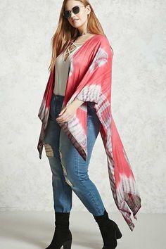 FOREVER 21+ Plus Size Tie-Dye Shawl