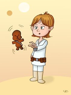 This was Luke Skywalker's little boy age :) Pencil and pencil, the coloring is Photoshop CS6