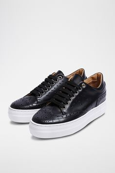 British Passport, High Tops, High Top Sneakers, Baskets, Shoes, Products, Fashion, Black Leather, Moda
