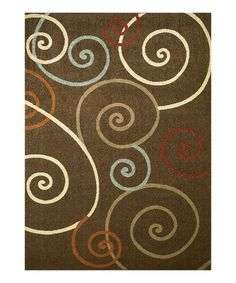 Take a look at this Brown Scroll Rug by Concord Global Trading, Inc. on #zulily today!