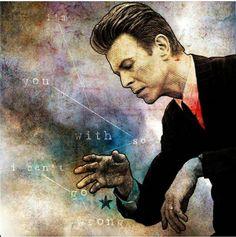 Bowie by artist Frederic Dumain David Bowie Music, David Bowie Starman, David Bowie Tribute, David Bowie Art, Rock N Roll, Goblin King, Major Tom, Rock Legends, Music Icon