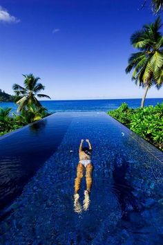 Swim Laps With Views of Sandy Beaches and the Ocean in the Seychelles