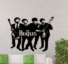 The Beatles Wall Decal Rock Music Band Vinyl Sticker Home Room