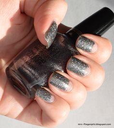 Glitter Half Moon Manicure