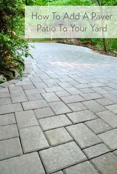 Patio idea i like this one back yard pinterest patios how to build a paver patio its done outdoor patio flooring ideasdiy solutioingenieria Choice Image