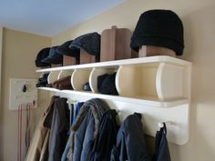 White Wooden Coat Rack With Open Shelf And Hat Storage With Shirt Hanger Stand  And Hooks To Hang Coats