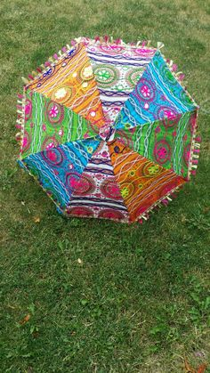 Indian decorative umbrellas. Available for $20 each.. adds perfect decor to mehndi nights or can be used for bridesmaids entrances. Picnic Blanket, Outdoor Blanket, Mehndi Night, Ethnic Home Decor, Umbrellas, Bridesmaids, Bling, Indian, Gifts