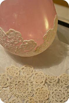 doilie candle holders - I am obsessed with doilies