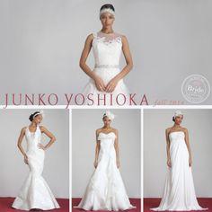 Junko Yoshioka, Fall 2014 collection, as seen on http://www.bride.ca/wedding-dresses/?GownTypeID=1&GownLabelID=186