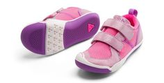 Plae Ty H&L in Simmer Pink. #plae #girlsplaeshoes #Tysimmerpink #cutegirlshoes #toddlershoes #girls #toddler #velcroshoes