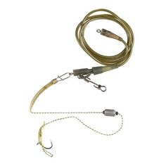#TomTop - #TomTop Carp Fishing Rigs Barded Fishing Hook Fishhook with Anti-tangle Rolling Swivel Snap Rubber Tube Fishing Tackle Accessories 4# / 8# - AdoreWe.com