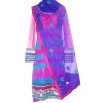 colorful straight fitting anarkali by manchali