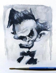 Lincoln watercolor