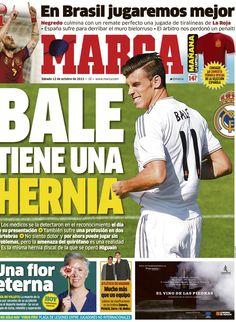 'Bale tiene una hernia' |La portada del 12 de octubre de 2013