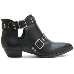 Matisse Neil Studded Suede Ankle Boots ($205) ❤ liked on Polyvore featuring shoes, boots, ankle booties, black, black suede boots, cutout booties, black cut out booties, black bootie and cut out booties