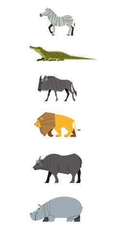 Wild animals of Africa - Art ideas Autumn Animals, Spring Animals, Baby Animals, Woodland Animals, Wild Animals Drawing, Animal Drawings, Cute Animal Illustration, Digital Illustration, Animal Illustrations