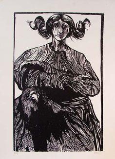 Sibyl's Hands / woodcut by Leonard Baskin  R.Michelson Galleries