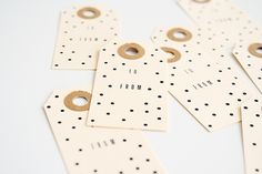 confetti paper gift tags
