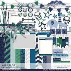 William Scrapbooking Kit - Digital Scrapbooking Kits DesignerDigitals