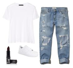 """""""Untitled #4294"""" by adi-pollak ❤ liked on Polyvore featuring Abercrombie & Fitch, The Row, NIKE and Manic Panic"""