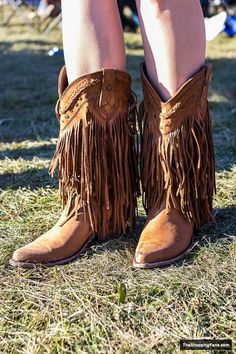 Fringed boots