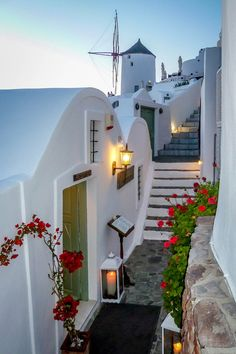 .~Path in Oia, Santorini, Greece~.