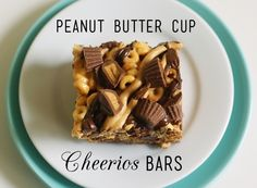 Peanut Butter Cup Cheerios Bars. Made with chocolate and peanut butter cheerios