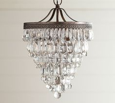Love this for the entryclarissa glass drop small chandelier clarissa glass drop small chandelier pottery barn chandeliers bburgis house decor pinterest pottery barn chandelier chan mozeypictures Gallery