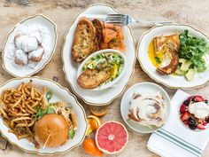 Brunching Without Borders : Whether you're craving New England seafood Benedicts, Southern biscuits stuffed with shrimp and grits, or eggs smothered in Southwestern chile sauce, here are 50 states' worth of best brunch bets. Photography courtesy of State of Grace, Houston