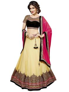 Appealing Lehenga will give you very divine and angelic look on your special day. Item Code: GDH912