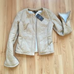 Armani Exchange Faux Suede Jacket Super cute fitted jacket. 100% polyester. New with tags. Zippered sleeves. Rose gold colored zippers. Size XS and I would say runs a little small. A/X Armani Exchange Jackets & Coats
