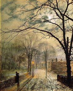 A Moonlit Stroll, Bonchurch, Isle of Wight - John Atkinson Grimshaw (1878)