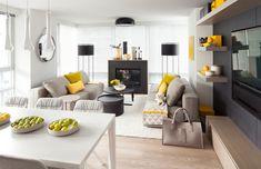 Décor chaleureux scandinave avec du jaune