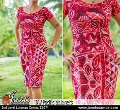 The Best Pacific and Samoa Shopping - Carvings, Crafts, Homeware and Gifts New Dress Pattern, Dress Patterns, Sewing Patterns, Samoan Designs, Samoan Dress, Island Wear, Island Outfit, Island Life, Tropical Dress