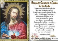 Imágenes cristianos: Sagrado Corazón de Jesus en vos confío