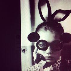 Linda #Farrow #Mickey #sunglasses  Model: Natalia #Vodinova for #vogue #uk