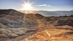Bone dry: Death Valley, California.