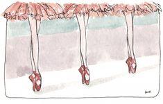 Mundo Bailarinístico - Blog de ballet: Ilustrações de Ballet - Como não amar Noemi Manalang?