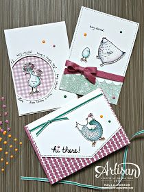 Stampinantics - Papercraft inspiration at your fingertips. Stampin Up Hey Chick stamp set to make a set of cards. Friendship Cards, Bird Cards, Stamping Up Cards, Animal Cards, Card Sketches, Creative Cards, Cute Cards, Scrapbook Cards, Homemade Cards