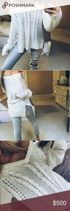 ISO Brandy Melville knit sweater!!! Please help me find this ladies! I can't find it/this style anywhere. Pleaseeee help!! Brandy Melville Sweaters