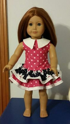 1930's ruffled play dress. Eden Ava Couture pattern. My first attempt at handmade doll dress.