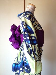 Summer Kimono(Yukata) with butterfly pattern.