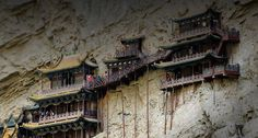 1400 year old Hanging Monastery in Jinlong Canyon, Shanxi Province, China (© Christian Kober/Photolibrary)  July 5, 2009